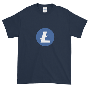Navy Blue Short Sleeve T-Shirt With Blue and White Litecoin Logo
