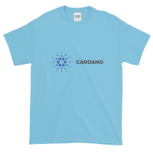 Load image into Gallery viewer, Baby Blue Short Sleeve T-Shirt With Grey and Blue Cardano Logo