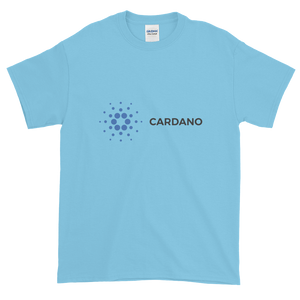 Baby Blue Short Sleeve T-Shirt With Grey and Blue Cardano Logo