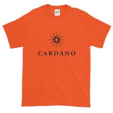 Load image into Gallery viewer, Orange Short Sleeve T-Shirt With Black Cardano Logo