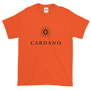 Orange Short Sleeve T-Shirt With Black Cardano Logo