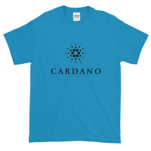 Load image into Gallery viewer, Sapphire Blue Short Sleeve T-Shirt With Black Cardano Logo