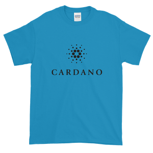 Sapphire Blue Short Sleeve T-Shirt With Black Cardano Logo