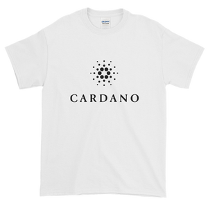 White Short Sleeve T-Shirt With Black Cardano Logo
