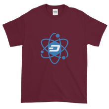 Load image into Gallery viewer, Maroon Short Sleeve T-Shirt With Blue and White Dash Logo