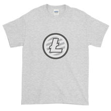 Load image into Gallery viewer, Ash Short Sleeve T-Shirt With Grey And White Litecoin Logo