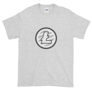 Ash Short Sleeve T-Shirt With Grey And White Litecoin Logo