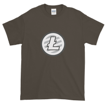 Load image into Gallery viewer, Olive Short Sleeve T-Shirt With Grey And White Litecoin Logo