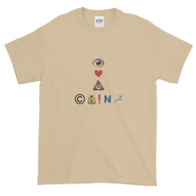 Load image into Gallery viewer, Sand Short Sleeve T-Shirt With Crypto Emoji Joke Logo