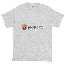 Load image into Gallery viewer, Ash Short Sleeve T-Shirt With White, Orange, And Grey Monero Logo