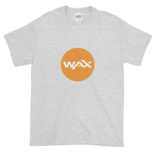 Load image into Gallery viewer, Ash Short Sleeve T-Shirt With Orange and White WAX Logo