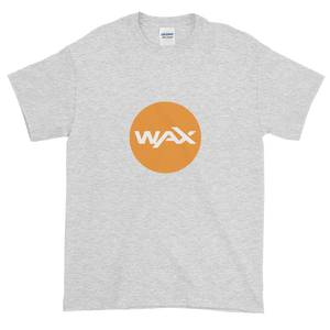 Ash Short Sleeve T-Shirt With Orange and White WAX Logo
