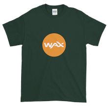 Load image into Gallery viewer, Forest Green Short Sleeve T-Shirt With Orange and White WAX Logo