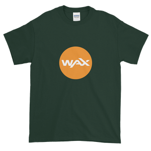 Forest Green Short Sleeve T-Shirt With Orange and White WAX Logo