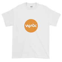 Load image into Gallery viewer, White Short Sleeve T-Shirt With Orange and White WAX Logo