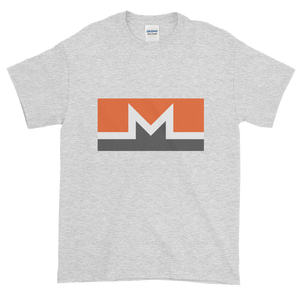 Ash Short Sleeve T-Shirt With White, Orange, And Grey Monero Logo