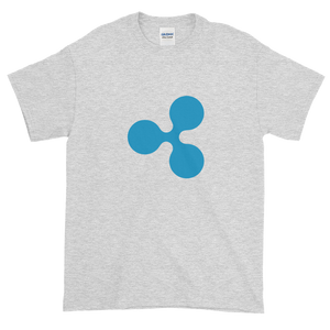 Ash Short Sleeve T-Shirt With Blue Ripple Logo