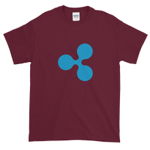 Load image into Gallery viewer, Maroon Short Sleeve T-Shirt With Blue Ripple Logo