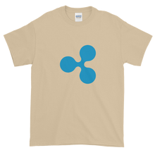 Load image into Gallery viewer, Sand Short Sleeve T-Shirt With Blue Ripple Logo