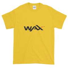 Load image into Gallery viewer, Yellow Short Sleeve T-Shirt With Grey and Orange WAX Logo