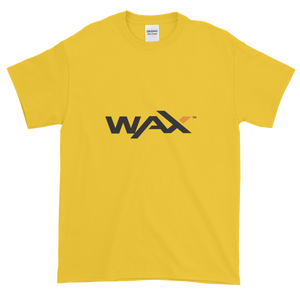 Yellow Short Sleeve T-Shirt With Grey and Orange WAX Logo