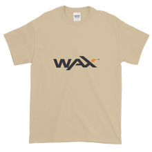Load image into Gallery viewer, Sand Short Sleeve T-Shirt With Grey and Orange WAX Logo