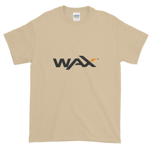 Sand Short Sleeve T-Shirt With Grey and Orange WAX Logo