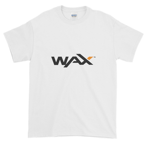 White Short Sleeve T-Shirt With Grey and Orange WAX Logo