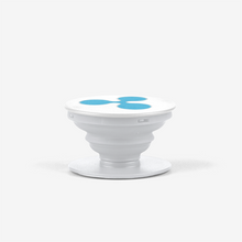 Load image into Gallery viewer, White Ripple Popsocket With Blue Ripple Logo Side View