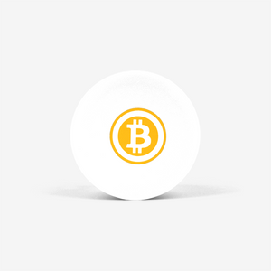 White Bitcoin Popsocket With White And Orange Bitcoin Logo Front View