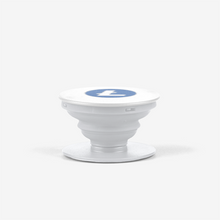 Load image into Gallery viewer, White Litecoin Popsocket With White And Blue Litecoin Logo Side View