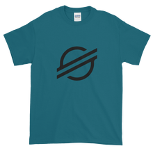 Load image into Gallery viewer, Galapagos Blue Short Sleeve Stellar T Shirt With Black Stellar S Logo