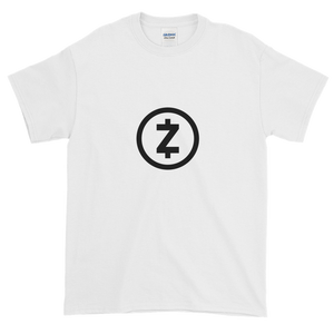 White Short Sleeve T Shirt With Black Z-Cash Logo