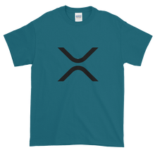 Load image into Gallery viewer, Galapagos Blue Short Sleeve XRP T Shirt With Black XRP Logo