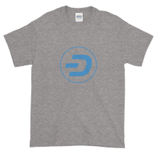 Load image into Gallery viewer, Grey Short Sleeve T-Shirt With Blue Dash Logo