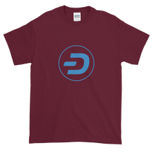 Load image into Gallery viewer, Maroon Short Sleeve T-Shirt With Blue Dash Logo