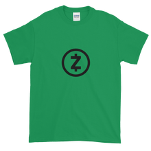 Load image into Gallery viewer, Green Short Sleeve T Shirt With Black Z-Cash Logo