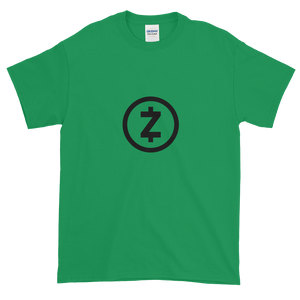 Green Short Sleeve T Shirt With Black Z-Cash Logo