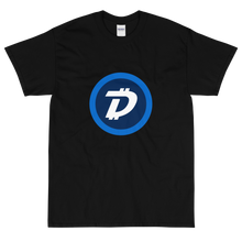 Load image into Gallery viewer, Black Short Sleeve T-Shirt With White and Blue DigiByte Logo