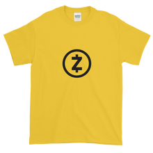 Load image into Gallery viewer, Yellow Short Sleeve T Shirt With Black Z-Cash Logo