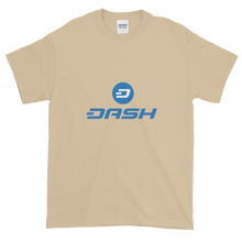 Load image into Gallery viewer, Sand Short Sleeve T-Shirt With Blue and White Dash Logo
