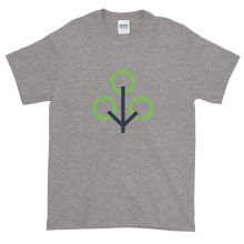 Load image into Gallery viewer, Grey Short Sleeve T-Shirt With Green and Grey Zcash Sapling Logo