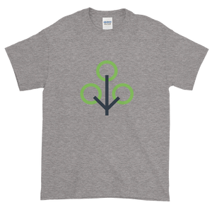 Grey Short Sleeve T-Shirt With Green and Grey Zcash Sapling Logo