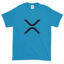 Load image into Gallery viewer, Sapphire Blue Short Sleeve XRP T Shirt With Black XRP Logo