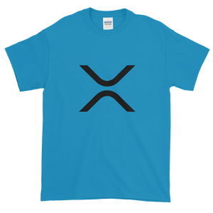 Sapphire Blue Short Sleeve XRP T Shirt With Black XRP Logo