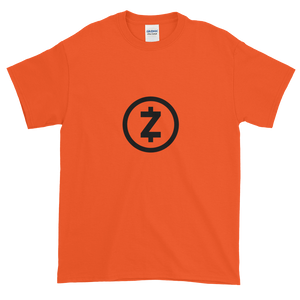 Orange Short Sleeve T Shirt With Black Z-Cash Logo