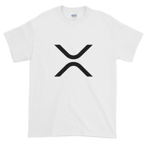 White Short Sleeve XRP T Shirt With Black XRP Logo