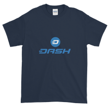 Load image into Gallery viewer, Navy Blue Short Sleeve T-Shirt With Blue and White Dash Logo