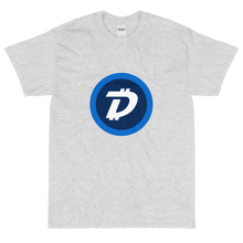Load image into Gallery viewer, Ash Short Sleeve T-Shirt With White and Blue DigiByte Logo