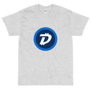 Ash Short Sleeve T-Shirt With White and Blue DigiByte Logo